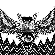 Owlluminati Sticker